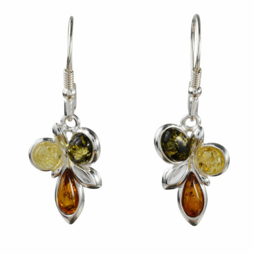 "Sterling Silver and Baltic   Amber Earrings /""Martina/"""
