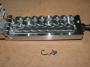 Details about Freshwater Arow -2 jig mold 3/32oz 8 cavity CNC Aluminum  Crappie