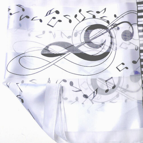 Music Clef Silky Scarf Shawl Wrap Choirs School Church Proms Concert Group Event