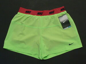 f60c3e960409 NWT Nike Girl s Dri-Fit Icon Woven 2-in-1Running Shorts Size S Neon ...