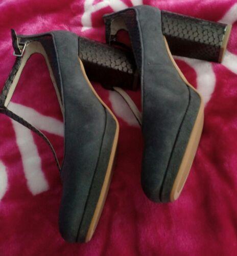 Effect Block Smart Mist Grigio Shoes Suede Court Clarks Crocodile Heel Uq0fYxzP