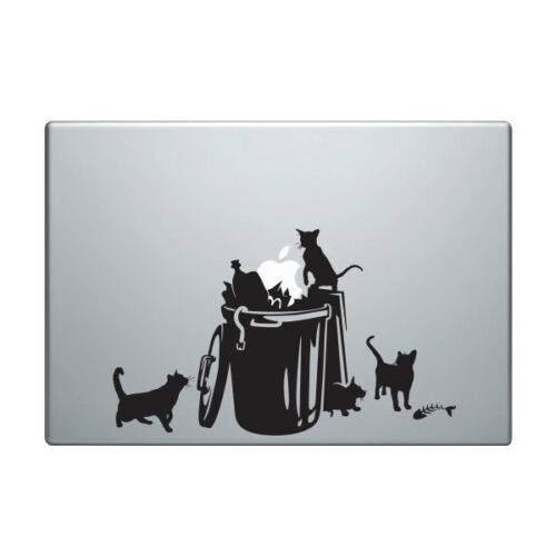 Decal for Macbook Pro Sticker Vinyl laptop funny air 11 13 15 apple cat kitty