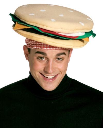 FUNNY WILD CHEESEBURGER HAMBURGER BURGER HAT FAST FOOD COSTUME HAT 1902
