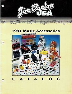 Jim-Dunlop-1991-Music-Accessories-Catalogue-Good-Condition