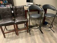 Counter Height Chairs Kijiji In Edmonton Buy Sell Save