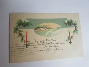 Greeting-Postcard-Vintage-New-year-Candles