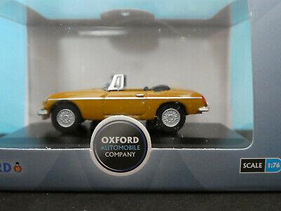 BNIB OO GAUGE OXFORD 1:76 76MGB009 MGB Roadster Bronze Yellow Car