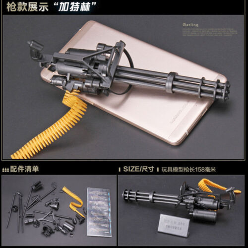 1//6 Scale Gatling M134 Toy Gun Model Puzzles Building Bricks Gun Soldier Weapon