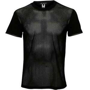 Versace-Net-Crew-Neck-Men-039-s-T-Shirt-Black