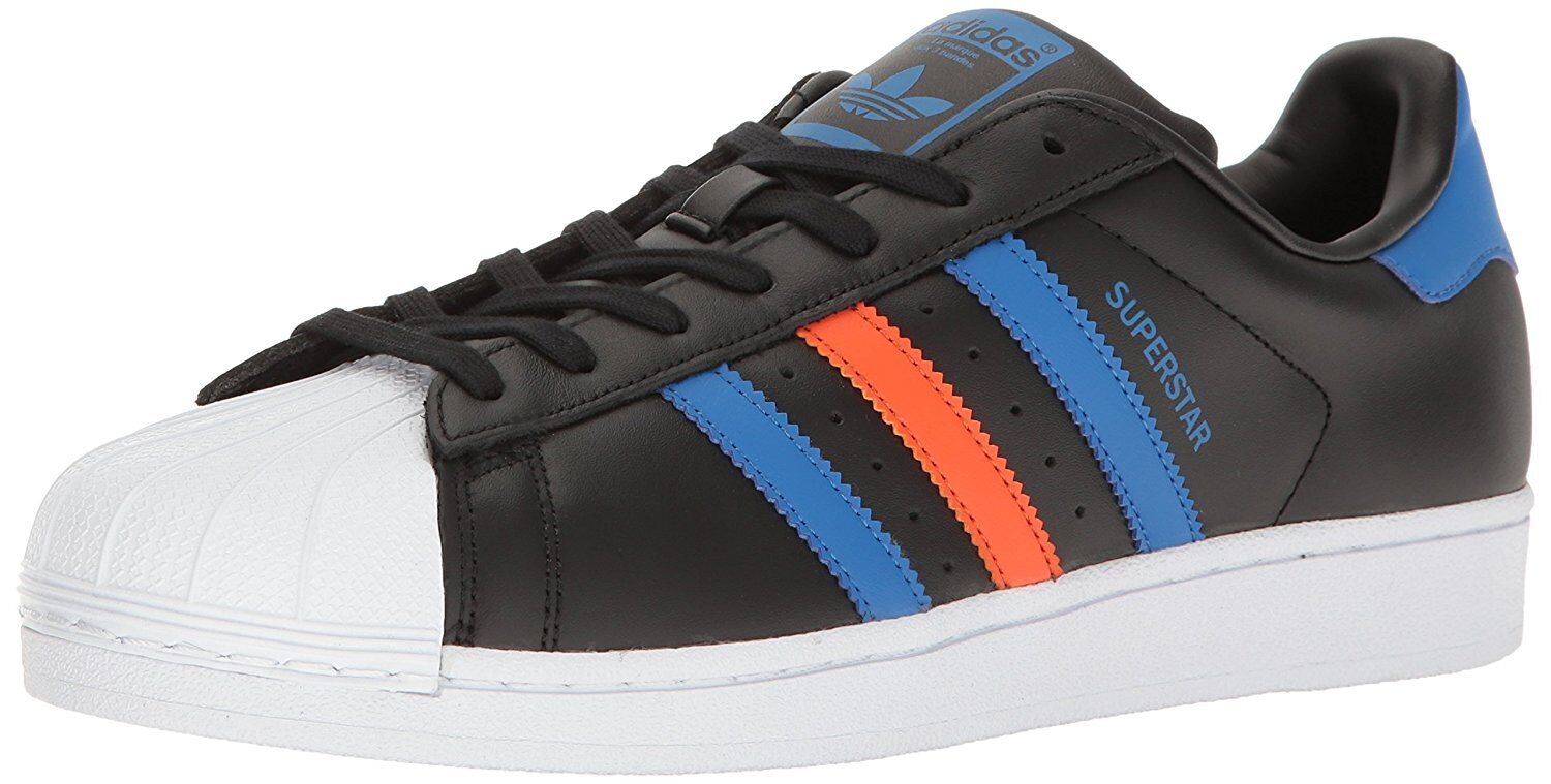 Adidas Men's 11.5 Originals Men's Superstar White Black orange Red bluee Sneakers