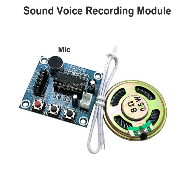 0.5W Loudspeaker+Cable DC 3V-5V ISD1820 Sound Voice Recording Playback Module