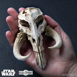 Ripiano-Robot-Star-Wars-Mandalorian-Skull-Mini-Scultura-Boba-Fett-Nuovo-Sealed