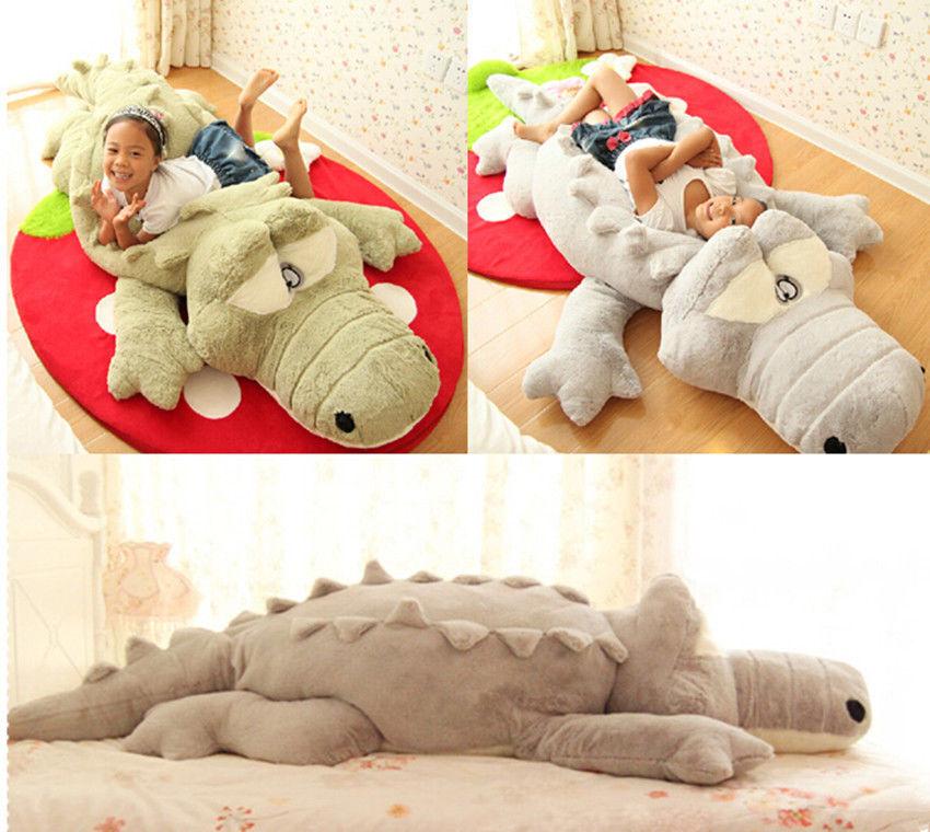 Plush Crocodile Stuffed Soft Cushion Big Pillow Kids Birthday Gift Xmas Dolls