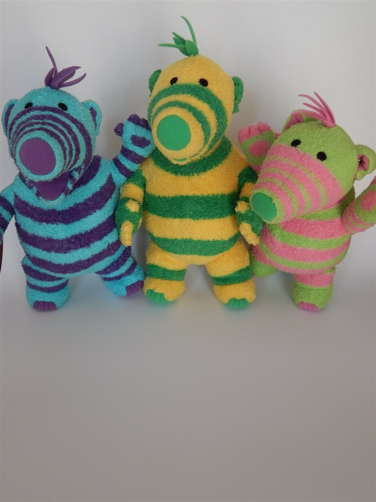 Fimbles soft toy bundle - Fimbo, Florrie and Baby - Fisher Price 2002