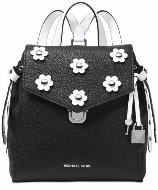 57ffde9cdd08e New Michael Kors Bristol Leather backpack black silver bag backpack floral  stud