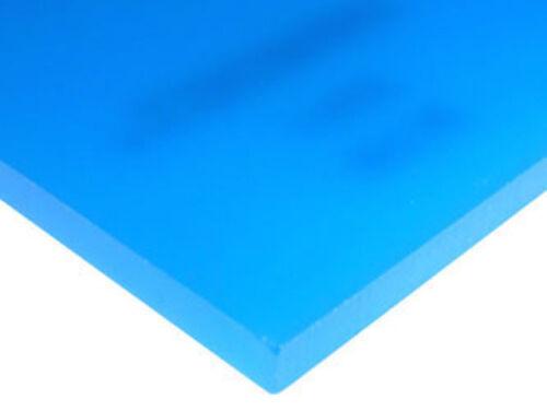 "Translucent Azure Blue Acrylic Plexiglass sheet 1//8/"" x 12/"" x 24/"" #2051"
