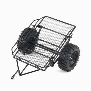 RC Car Rock Crawler Metal Small Trailer With Tire For 1//10 Axial SCX10 D90 CC01