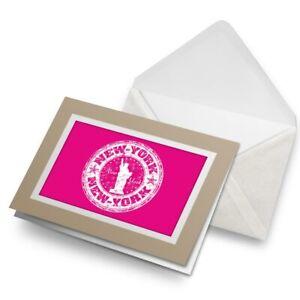Greetings-Card-Biege-New-York-USA-America-Travel-Stamp-5921