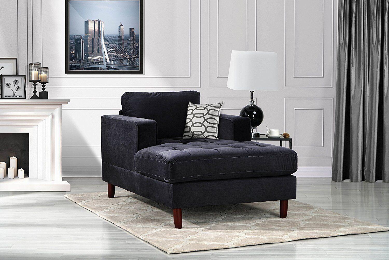 Image of: Mid Century Modern Bedroom Velvet Fabric Chaise Lounge For Living Room Grey For Sale Online Ebay