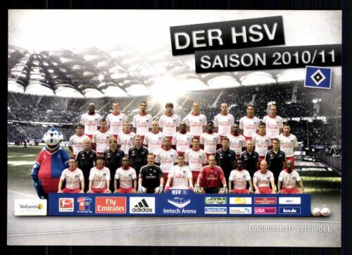 A 64098 Original Mannschaftskarte Hamburger SV 2010-11