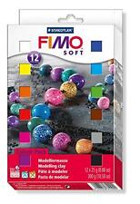 Fimo Soft Clay 12 Color Assortment 25 g blocks assorted colors box of 12, New, F