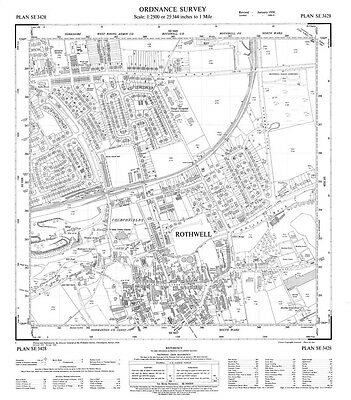 Old Ordnance Survey Maps Rothwell Northamptonshire 1924 Godfrey Edition New