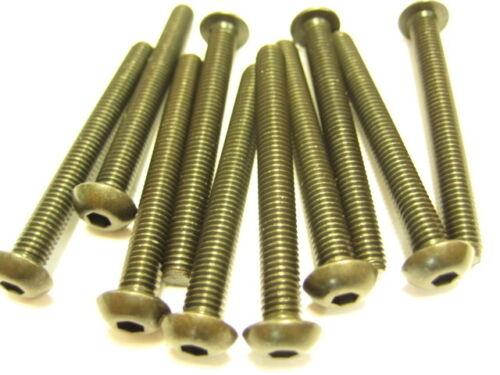 10x Stahl Linsenkopfschrauben M5x45 ISO7380 10.9 Linsenschrauben