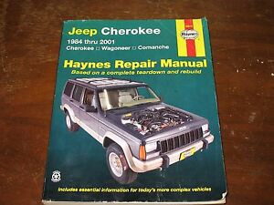 haynes repair manual 50010 jeep cherokee wagoneer comanche 1984 rh ebay com Jeep Repair Diagrams Jeep Cherokee Repair Manual