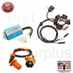 gy6 150 6 pole stator coil cdi box ignition coil 150cc. Black Bedroom Furniture Sets. Home Design Ideas