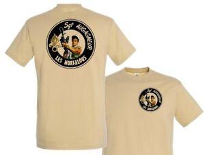 "Tshirt TAN /"" LES MORFALOUS /"" belmondo BEBEL légion AUGAGNEUR Sgt T SHIRT"