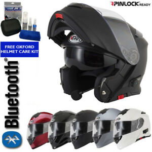 VCAN-BLINC-V271-BLUETOOTH-FLIP-FRONT-MOTORBIKE-MOTORCYCLE-HELMET-SATNAV-MP3