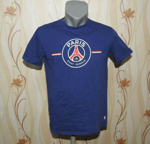 ffe3e5fb37f Details about Paris Saint-Germain FAN T-Shirt Blue PSG Size M 100% Cotton  Jersey Football