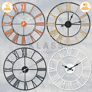 EXTRA-LARGE-ROMAN-NUMERALS-SKELETON-WALL-CLOCK-40-60CM-BIG-GIANT-OPEN-FACE-ROUND