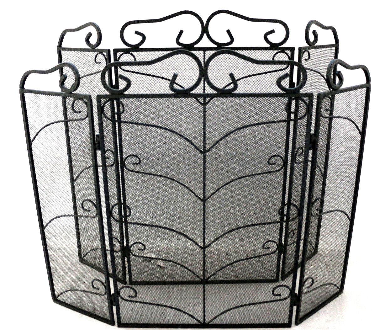 4 Panel Firescreen Vintage Nursery Fire Guard Spark Cover Safety Protector Black Ebay