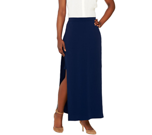 d648bfeae5 G.I.L.I. Matte Jersey Pull On Maxi Skirt With Side Slits Size 0 Deep ...