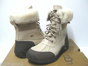 Image is loading UGG-ADIRONDACK-II-WOMEN-WINTER-BOOTS-LEATHER-SAND-