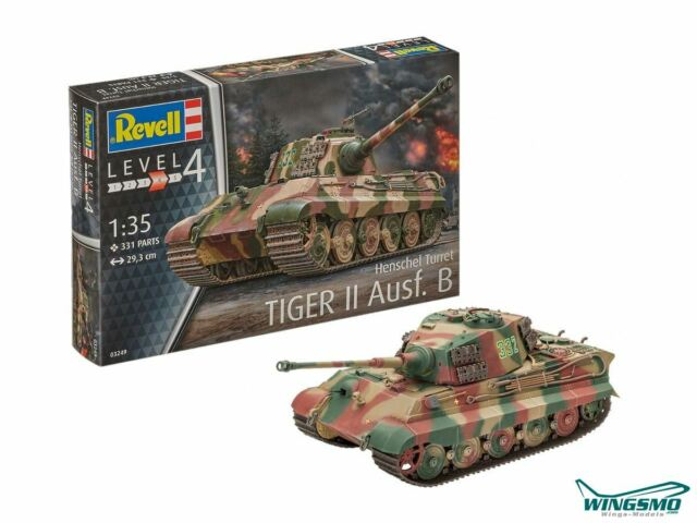 Revell Militär Tiger II Ausf.B Henschel Turr 1:35 03249