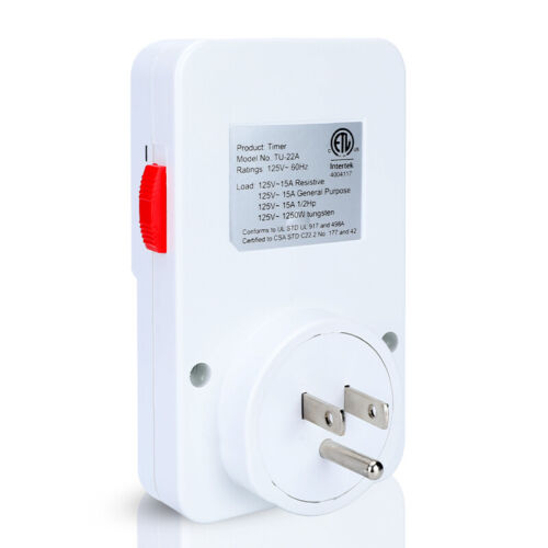 15 minutes to 24 Hour 7 Day Heavy Duty Mechanical Electric Plug In Timer Switch