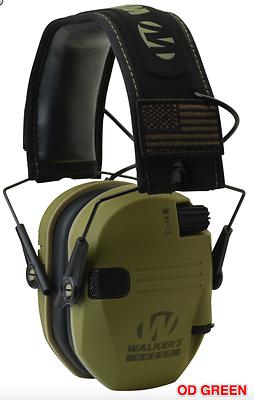 Walker/'s Razor Slim Electronic Hearing Protection Muff Don/'t Tread On Me Yellow