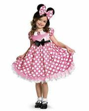Disney Pink Minnie Mouse Glow Dots Disguise Girls Dress-up Costume Size S(4-6X)