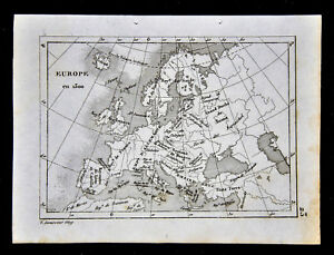 1835-Levasseur-Map-Europe-in-1300-Italy-Germany-France-Spain-Britain-Greece