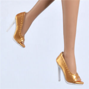 271fcad1d4 Details about shoes for Fashion royaltyⅡ FR2 Nu Face 2 body doll integrity  toys Gold pumps