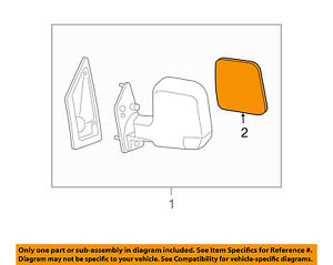 GM OEM Door Rear Side View-Mirror Glass Right 15902388