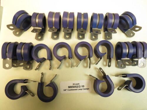 "20ea 5//8/"" Hydraulic Fluid Resistant Cushioned Loop Clamp ADEL UMPCO M85052//2-10"