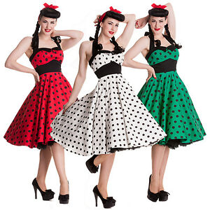 Hell Bunny Mariam Dress Polka Dot 50s Pin Up Prom Wedding