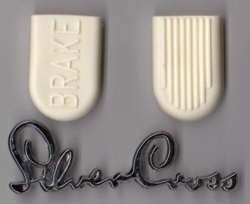 NEW BRAKE PADS RUBBERS FOR SILVER CROSS CARLTON PRAM FREEPOST* LONG LIFE