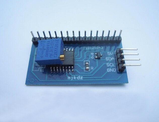 IIC/I2C/TWI/SPI Serial Interface Board Module For Arduino 5V 1602 LCD Display