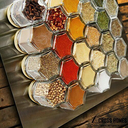(15pcs, 4.0 oz)  Hexagon Jars Gold Lid with Gold Plastisol Lined Lids