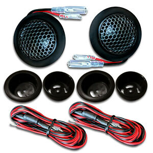 CT Sounds Tropo 20mm Car Audio Tweeters Silk Dome Black Metal Mesh Stereo (Set)
