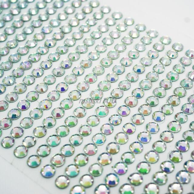 Rhinestone Stickers Diamante Gem Sparkle Strip Crystal Stick on Nail Art Crafts
